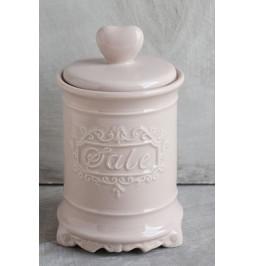 Jar ceramic pink cap heart...