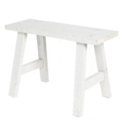 Stool white wood 40*14*27 cm