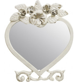 Mirror heart with rose colo...