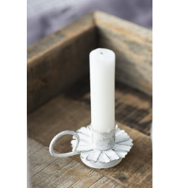 Candle holder for dinner in the shape of a flower with handle W: 6 H: 4 L: 8 Ib Laursen