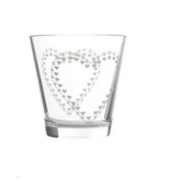Glass water decor heart...