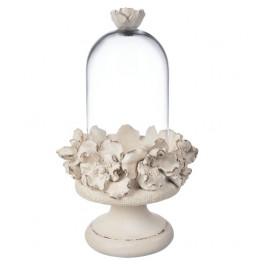 Riser w with cream roses...