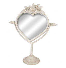 Mirror heart metal cream...