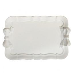 Tray 'Darleen' white resin...