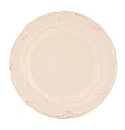Flat cream-colored with...