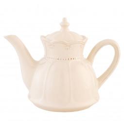 Teapot ceramic cream color...