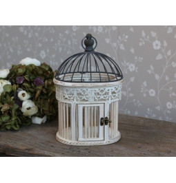 Cage-white wood and antique...