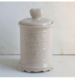 Jar ceramic pink SUGAR with...