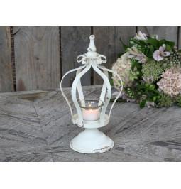 Crown tea light holder with...