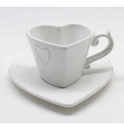 Cup heart, white ceramic...