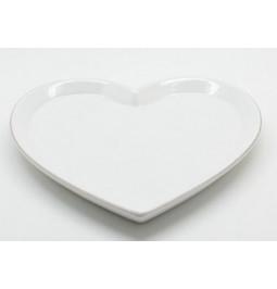 Flat ceramic heart-shaped...