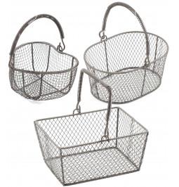 Assorted metal basket in...
