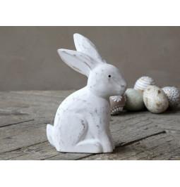 Rabbit in white wood H18.5...