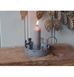Zinc color Crown candle...