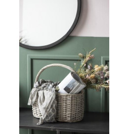 Round basket with handle,...