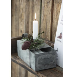 Zinc candle holder with box...