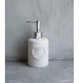 White ceramic liquid soap...