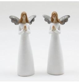 Coppia angeli in resina con...