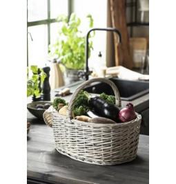 Basket with oval handle...
