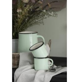 Mug, glazed light green...