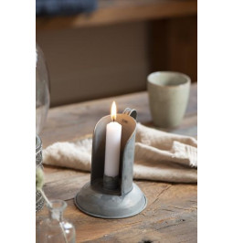 Candle holder zinc plated...