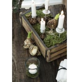 Lancia metallo bianco per candela cena h cm 15 d. 4 Ib Laursen