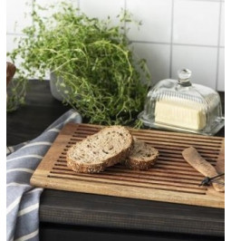 Cutting board with grooves...