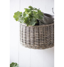Semicircular wall basket...