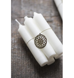 Candle WHITE short H 11 cm...