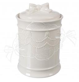 Line Bow jar white ceramic decoration bow diam. cm 12 h 17 home cuddles