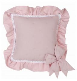 Cushion with powder pink...