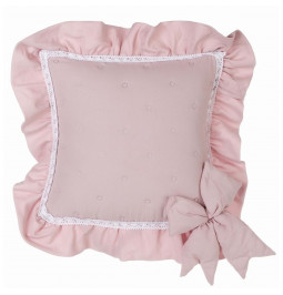Ivory cushion cover with...