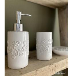 3 piece white ceramic...
