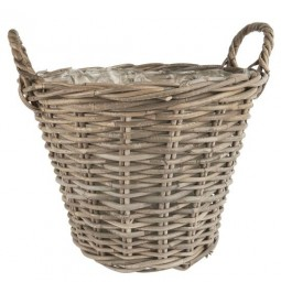 Rattan basket with inner...