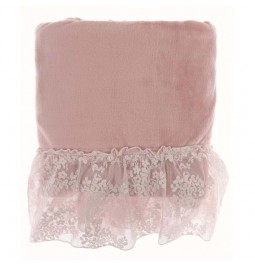 Plaid powder pink with lace...